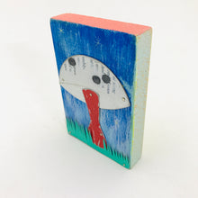 Load image into Gallery viewer, Red Stemmed Mushroom Tiny Tin Art