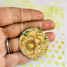 Load image into Gallery viewer, Vintage Pink Blossom Zero Waste Tin Necklace