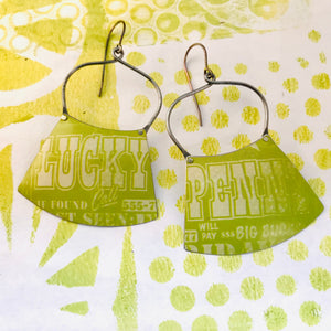 Lucky Penny Zero Waste Tin Earrings