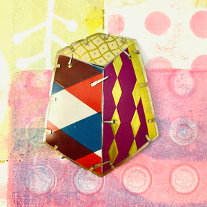 Edifice 3 Upcycled Tin Brooch