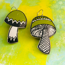Load image into Gallery viewer, Mid Century Mushrooms Zero Waste Tin Earrings