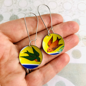 Tiny Birds Medium Basin Earrings
