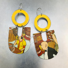 Load image into Gallery viewer, Let Them Eat Cake Chunky Horseshoes Zero Waste Tin Earrings