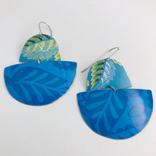 Load image into Gallery viewer, Mixed Blues Boats Upcycled Tin Earrings