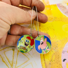 Load image into Gallery viewer, Sponge Bob & Patrick Large Basin Tin Earrings