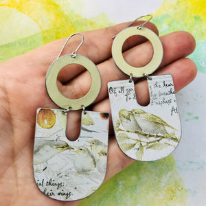 Sweet Birds Chunky Horseshoes Zero Waste Tin Earrings
