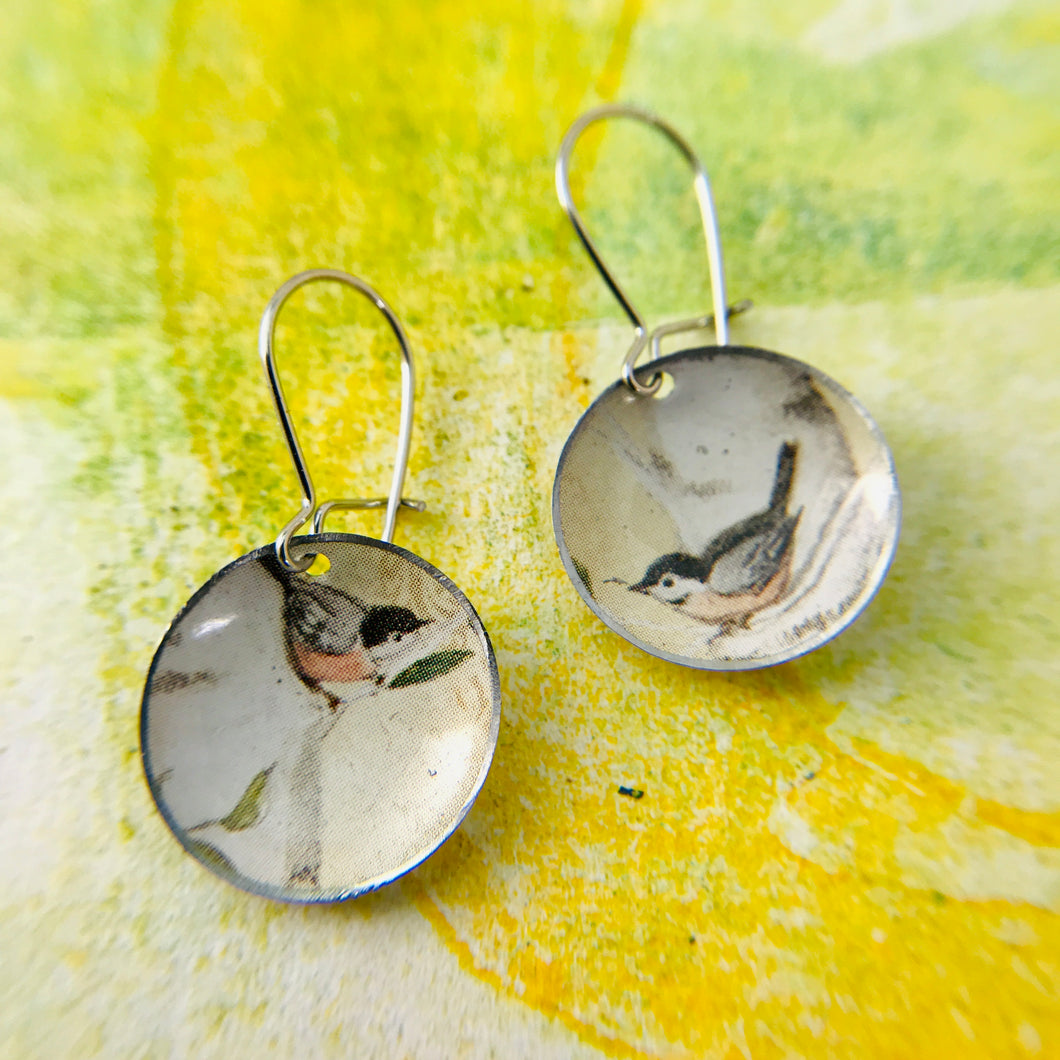 Two Robins Tiny Dot Tin Earrings