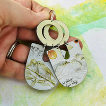 Load image into Gallery viewer, Sweet Birds Chunky Horseshoes Zero Waste Tin Earrings