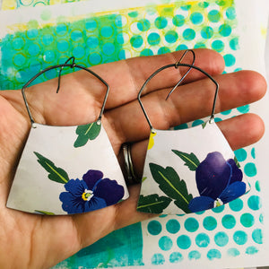 Purple Violets Large Zero Waste Tin Earrings