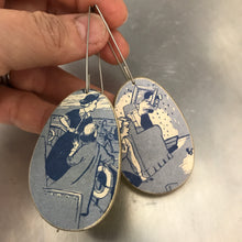 Load image into Gallery viewer, Nancy Drew Recycled Book Cover Earrings