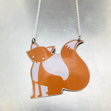 Load image into Gallery viewer, Orange Fox Zero Waste Tin Necklace