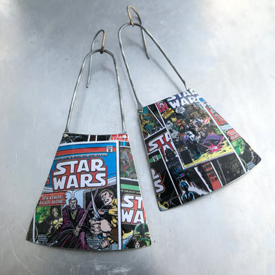 Star Wars Comic Book Recycled Tin Earrings