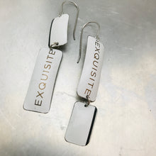Load image into Gallery viewer, Exquisite Narrow Rectangle Zero Waste Tin Earrings