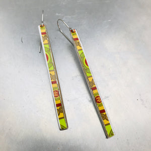 Cigar Tin Narrow Edge Vintage Upcycled Tin Earrings