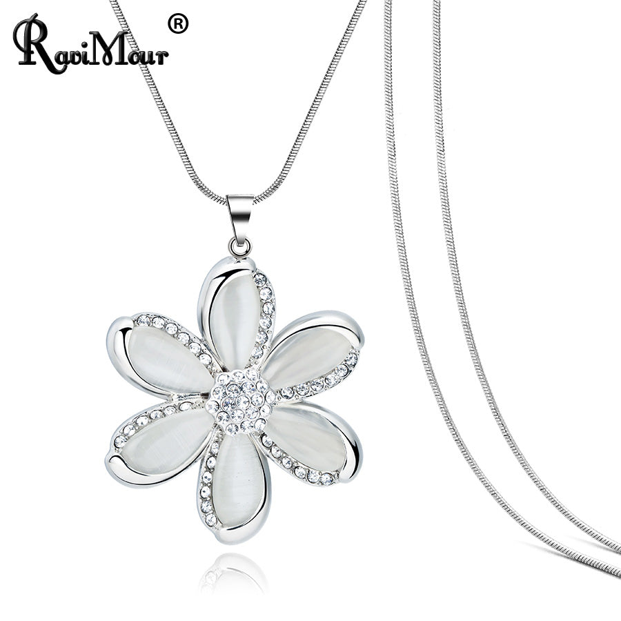f6756a3807704 Flower Necklaces for Women Fashion Jewelry 2018