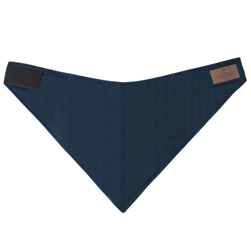 Ocieplacz na szyję Rare Bird London - NAVY PINSTRIPE WOOL
