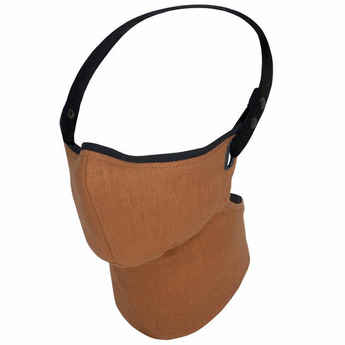 Maska Rare Bird London  - Burnt Orange Linen Face Mask - Lniana Maska