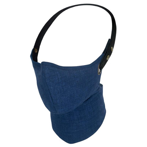 Maska Rare Bird London  - Navy Linen Face Mask - Lniana Maska