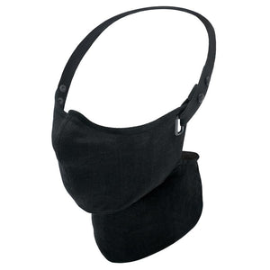 Maska Rare Bird London  - Black Linen Face Mask - Lniana Maska