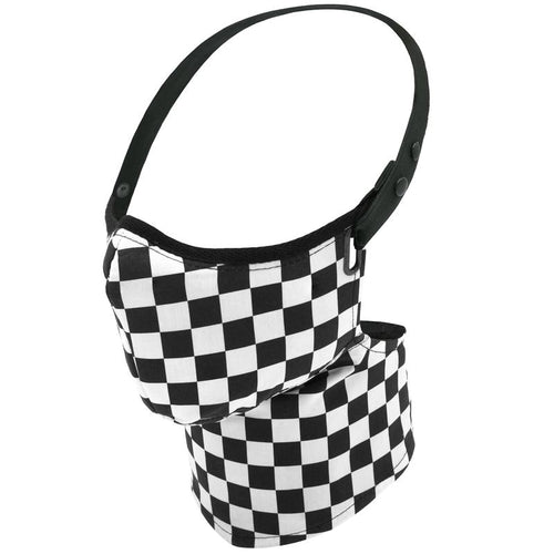 Maska Rare Bird London  - Classic Racer Check Face Mask - MADE TO ORDER ONLY