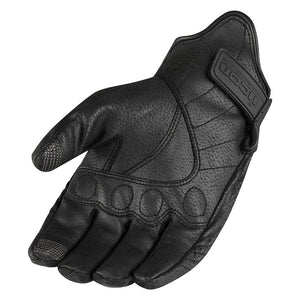 ICON Gloves Pursuit Black Ladies