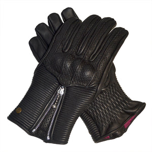 Goldtop - The Silk Lined Raptor Gloves - Black