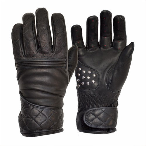 GOLDTOP - The Flat Tracker Racing Glove - Black/Czarne