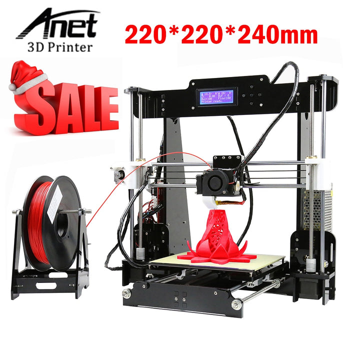 RU DE Stock)Anet A8 3D Printers 3D Printer Kits DIY Kit 3D Printer with 8GB Memory Card of PLA Filament  Extra Hot End Accessory