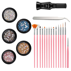 Gershion Nail Art Rhinestones Set