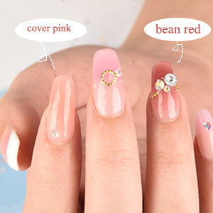 Cover Bean Red Poly Nail Gel 60ML