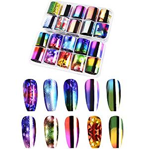 Gershion Starry Pattern Nail Art Foil Stickers 20 Color