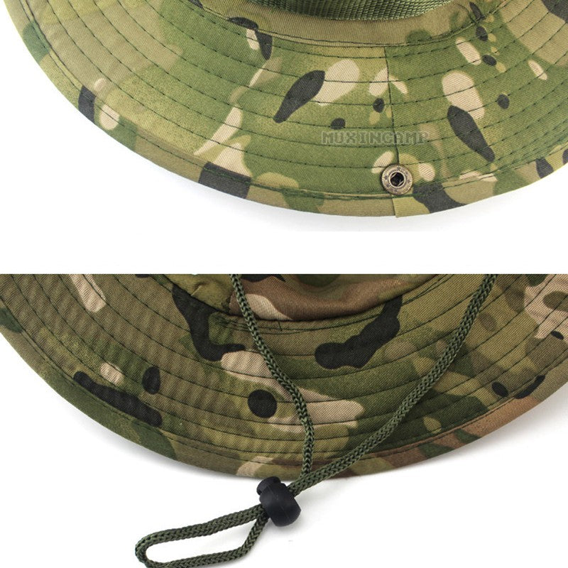 69144597537 Multicam Boonie Hats Tactical Airsoft Sniper Camouflage Tree Bucket ...
