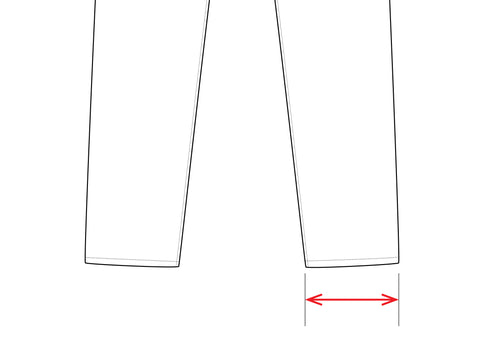 unis bottoms measuring guide leg opening