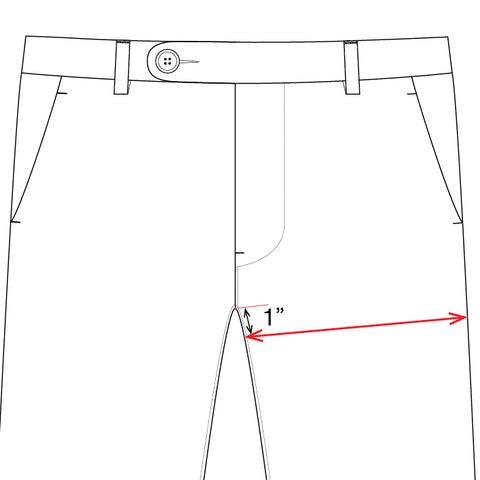 unis bottoms measuring guide thigh