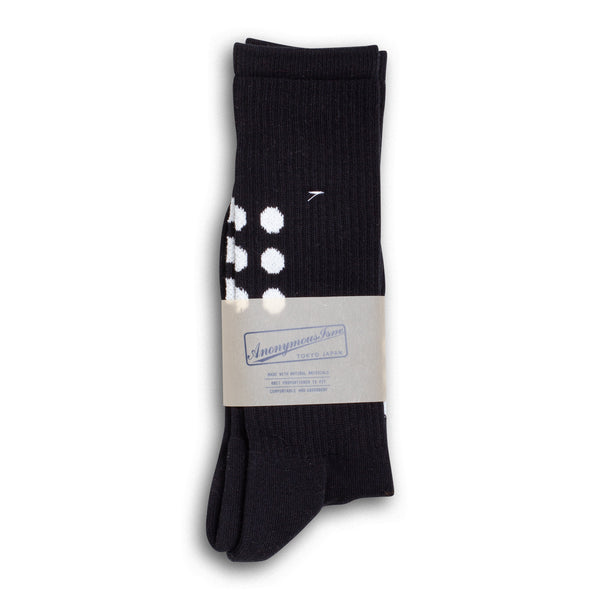 9 Dots Crew Socks - Black