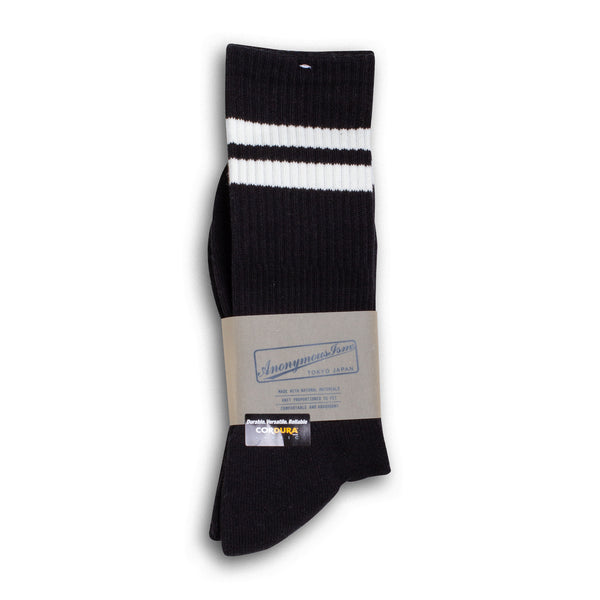 Anonymous Ism - Cordura Pile Line Crew Socks - Black