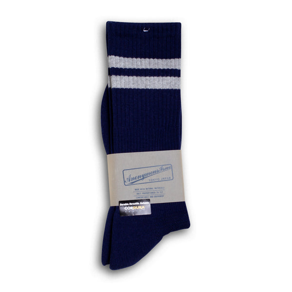 Anonymous Ism - Cordura Pile Line Crew Socks - Navy