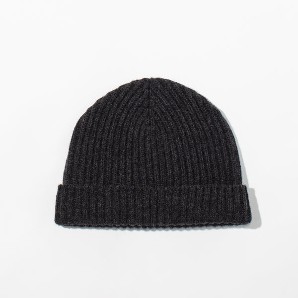 Lambswool Knit Hat - Charcoal