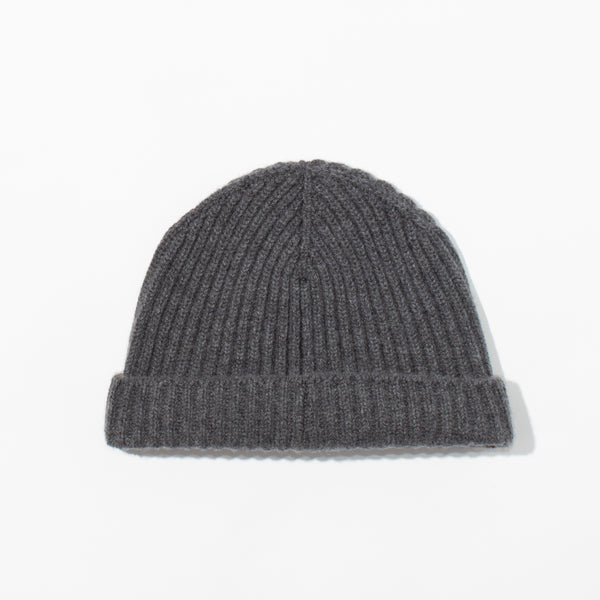 Cashmere Knit Hat - Derby Grey
