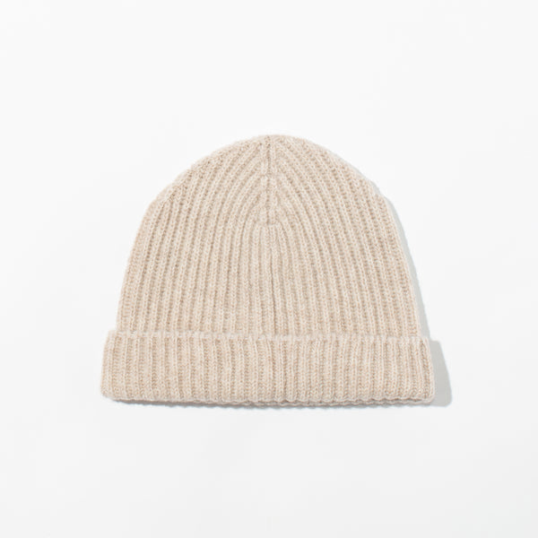 Lambswool Knit Hat - Oatmeal
