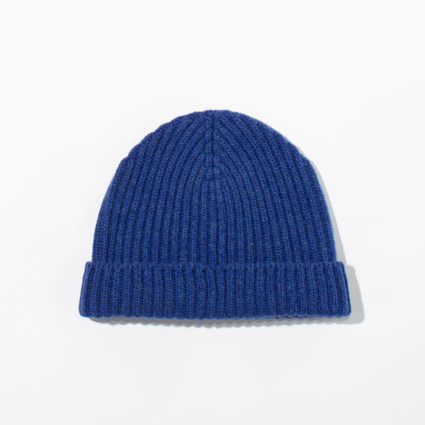 Lambswool Knit Hat - Parisian Blue