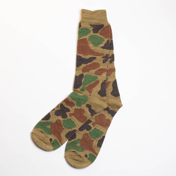 Anonymous Ism - Camo Crew Sock - Army Green Camo