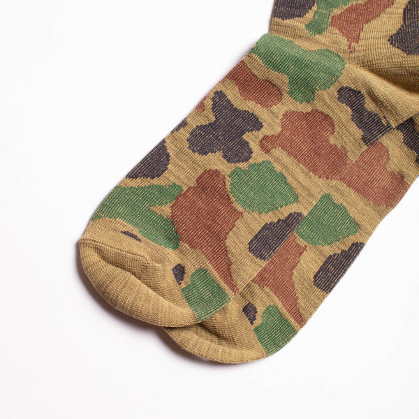 Camo Crew Socks - Army Green