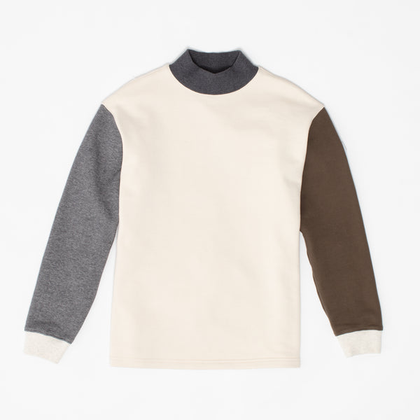 Mock Neck Sweatshirt - Combo