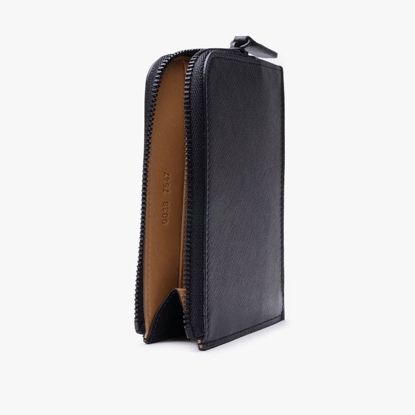 Zipper Wallet - Black Saffiano