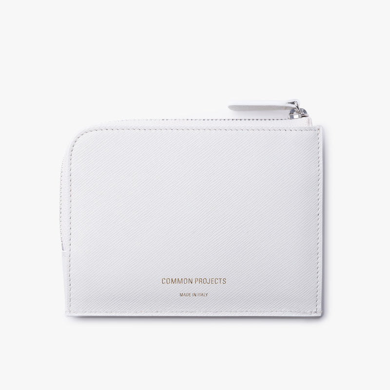 Common Projects - Zipper Wallet - White Leather