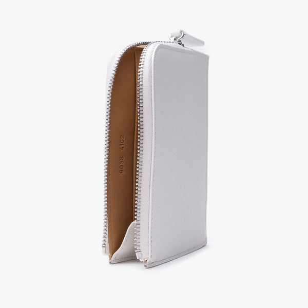 Zipper Wallet - White