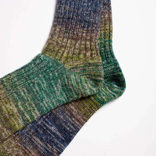 Go Hemp Splash Crew Socks - Green