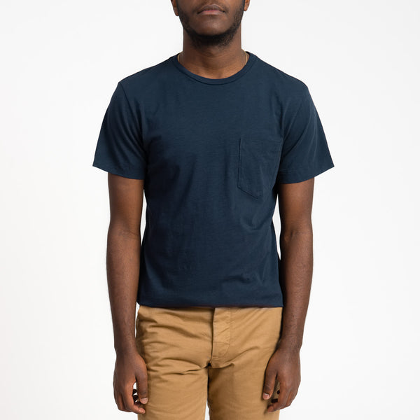 Unis Jake Navy Cotton Pocket T-Shirt