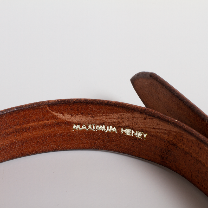 Standard Leather Belt - Dark Brown/Silver